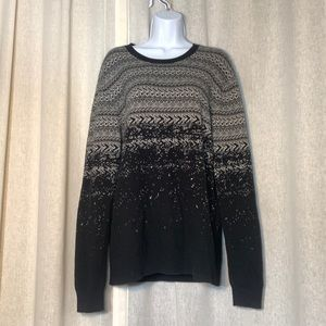 ARMANI EXCHANGE WOOL BLEND OMBRE PATTERNED NWOT